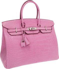 56141  Hermes Extremely Rare 35cm Matte Pink 5P Alligat on LiveAuctioneers. Hermes  BirkinBirkin BagsMatte ... f4dd1b16f31d3