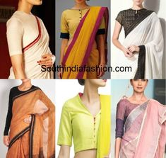 Blouse Designs for Formal Sarees office wear blouses blouse patterns for work wear politicians teachers lawyers indian formal blouse designs Saree Jacket Designs, Saree Blouse Patterns, Sari Blouse Designs, Dress Designs, Dress Patterns, Formal Blouses, Formal Saree, Casual Saree, Saris