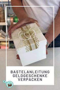 In dem Blogpost zeige ich Euch wie ihr mit Hilfe des praktischen Verpackungs-Sets Eure Geldgeschenke zur Hochzeit super kreativ verpacken könnt.  #Hochzeit #Geldgeschenk Pin Collection, Wedding Ceremony, Decorative Boxes, Marriage, Gift Wrapping, Diy Crafts, Blog, Gifts, Profile