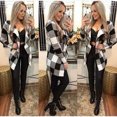 Black and White Cute Fall Outfits, Trendy Outfits, Summer Outfits, Fashion Outfits, Womens Fashion, Leotard Fashion, Winter Looks, Daily Fashion, Autumn Winter Fashion
