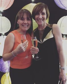 Anne and Gill having a ball at the 'Lights of Paddington' fashion show. It was great to see her Bertossi Brides gowns up on the catwalk. www.paddingtonweddings.com.au