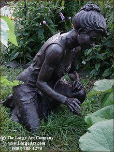 A Woman's Touch by Bridget Rex  |  Life-Size Statues & Life-Size Sculptures | Bronze Statues