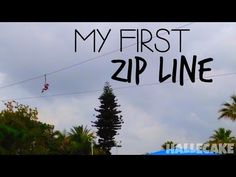 My First Zip Line {Hallecake Vlogs} - YouTube