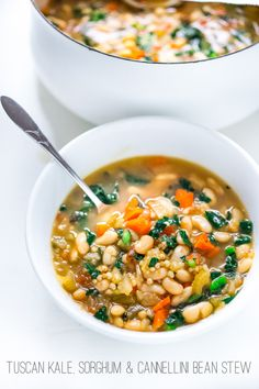 Tuscan Cannellini Bean Stew with Sorghum