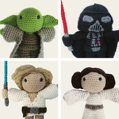 Free Amigurumi Snowman Crochet Patterns : Han Solo and Princess Leia amigurumi Monacos, cosicas y ...
