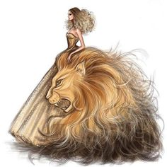 "Zodiac Haute Couture ""Leo"" Fashion Drawing by Shamekh Bluwi Fashion Design Drawings, Fashion Sketches, Dress Design Sketches, Zodiac Art, Zodiac Signs, Leo Zodiac, Astrology Leo, Horoscope Signs, Arte Fashion"