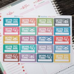 Skype Time!  // Sticker Planner (4.95 USD) by FasyShop