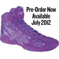 ASICS Split Second 9 Pink Wrestling Shoes or Purple Wrestling ...