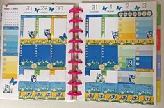 Weekly kit planner stickers. One of a kind owl stickers, Fits in most planners #Handmade