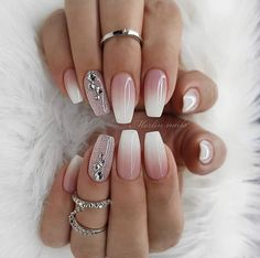 30 sexy nail art design 2019 Pink And White Nails Provide organic texture to protect your health and Provide You Hotting colors optional, suitable for all occasions. 110 Cute Short Acrylic cool and trendy cool and trendy stile Sexy Nail Art, White Nail Art, Sexy Nails, Prom Nails, Black Nail, Nails 2018, White Art, White Gold, White Nail Designs