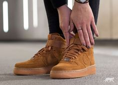 Nike Wmns Air Force 1 Hi Suede (Tawny / Tawny)