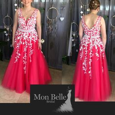 Don't like pink, this style can be custom made for you in your favourite color. It can be made in the wedding colors as a simple yet elegant wedding dress as your beautiful gown will be hand crafted especially for you. Elegant Wedding Dress, Wedding Dresses, Belle Bridal, Bridesmaids, Bridesmaid Dresses, Lace Ball Gowns, Evening Dresses, Formal Dresses, Beautiful Gowns
