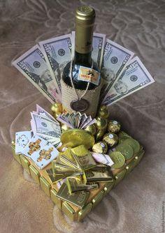 Щастя, здоров'я, Божого благословення і всіх земних благ. Wine Bottle Gift, Wine Gifts, Chocolate Flowers Bouquet, Personalized Wine Bottles, Clay Fairy House, Money Origami, Soap Shop, Candy Bouquet, Chocolates