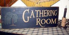 Primitive Country Rustic Sign Gathering Room Willow Tree Star | eBay