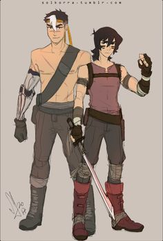 Keith and Shiro in Zombie Apocalypse from Voltron Legendary Defender