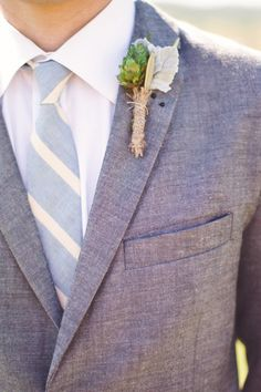 Great non-floral look for the men. Photo: Kate Harrison Photography