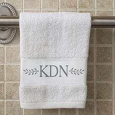 Meadow Monogram Personalized Hand Towel