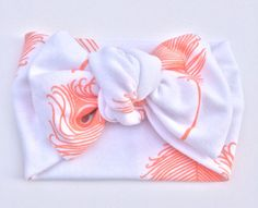 Turban Tie Knot Head Wrap Headband // Knotted by heylovekidswear Craft Projects For Kids, Sewing Projects, Baby Girl Fashion, Kids Fashion, Peacock Pattern, Head Wrap Headband, Head Bands, Baby Head, Baby Girl Headbands
