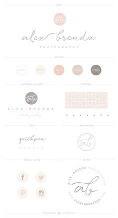 A Branding + Squarespace Studio / Salty Anchor Design Brand Identity Design, Branding Design, Site Web Design, Logo Minimalista, Photographer Branding, Branding Kit, Logo Design Inspiration, Brand Board, Ipad
