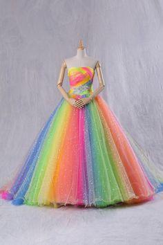 Vestido arco-iris/raionbow dress Super fofis/cute