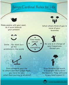 Follow the 7 Cardinal rules for life for better and peaceful living.