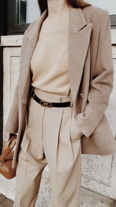 Beige Style, Fall Outfits, Fashion Ideas, Suits, Wool, My Style, Fitness, How To Wear, Beauty
