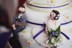 A Relaxed, Homemade Wedding With Bursts of Purple And Yellow And a Canine Guest Of Honour!
