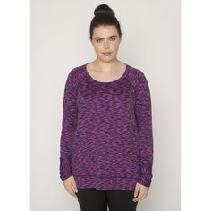 Plus Studio High Low Hem Sweater Knit Scoopneck Top