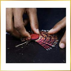 Go behind the scene and have a glimpse of the craftsmanship involved in creating fascinating piece of jewellery that takes skills and expertise of Vaidaan's Karigars. #shopping #accessories #jewellery #earrings #rings #bracelets #shoppingonline #handmadejewellery #tribal #boho #chic #traditional #wedding