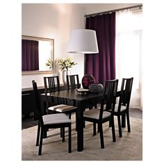 IKEA offers everything from living room furniture to mattresses and bedroom furniture so that you can design your life at home. Check out our furniture and home furnishings! Ikea Bjursta, Bjursta Table, Ikea Dining Room, Dining Room Design, Dining Room Furniture, Furniture Ideas, Purple Dining Chairs, Dinning Set, Dining Area
