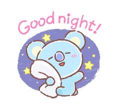 UNIVERSTAR BT21: Everyday Moments | Line Sticker Koala Meme, Funny Koala, Funny Animals, Good Night Gif, Good Night Image, Bts Chibi, Billboard Music Awards, Kpop Diy, Line Friends