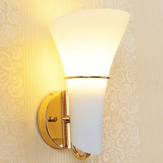 (61.56$)  Watch more here - http://aiu47.worlditems.win/all/product.php?id=1794395720 - Modern Glass Calla Lily Bedroom Stair Case Wall Lights Frosted White Glass Heads Corridor bedsides contracted Wall Lamp Fixtures
