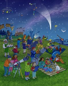 Stargazing Whats Wrong?  Wimmelbild  Created for Highlights Magazine Copyright © Highlights Press