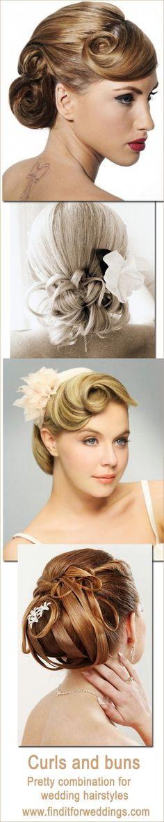 Wedding hairstyles are a huge party of the wedding look. Whether it's for the bride, bridesmaids or guests, a great wedding updo will add such charm to a wedding.   These wedding updo's are a combination of the classic bun with curls. Anyone of them is a perfect updo for long hair. Add flowers or a diamante comb or hair clip and you have a fabulously fashionable look.  For great bridal makeup and hairstylists see our wedding supplier list. Our makeup ...