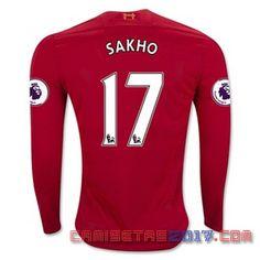 Camiseta manga larga Sakho Liverpool 2016 2017 primera