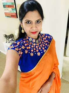 blouse design Designer Blouse Patterns, Saree Blouse Patterns, Sari Blouse, Saree Dress, Saree Blouse Designs, Blouse Styles, Blouse Designs High Neck, Simple Blouse Designs, Mirror Work Blouse Design