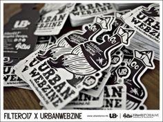 UrbanWebzine Sticker Design