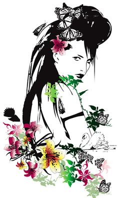Nadia Flower's Exquisite Artwork is An Explosion of Color. New Zealand-based Nadia Flower's illustrations are a visual explosion of color, beauty and nature. Art And Illustration, Illustration Design Graphique, Floral Illustrations, Fashion Illustrations, Hunting Art, Flower Fashion, Figure Drawing, Urban Art, Amazing Art