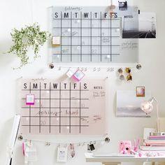 Acrylic Monthly Calendar - perfect for the home or office #ad #wallcalendar #Calendars #HomeOrganization #WallOrganizer