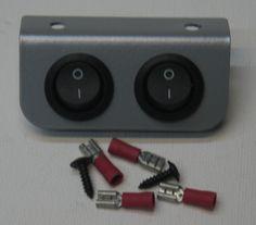 Mini Morris Minor or Classic/Kit Car 2 Switch Panel Silver or Black