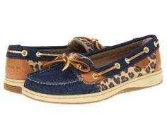 Sperry Topsider Angelfish Denim Leopard Women's Boat Shoes 9102906 BNIB | eBay