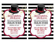 Magic Party Invites #magicparty #invitations