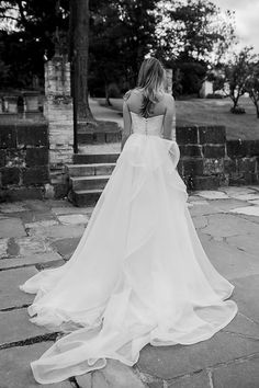 Montsalvat photoshoot by Karen Willis Holmes. Pictured the 'Ava' BESPOKE wedding gown with trains.  Follow us - @KWHBridal | Photography - @beksmithjournal . #karenwillisholmes #bridetobe #laceweddingdress #modernwedding #beksmith