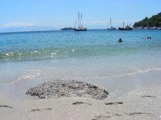 Παραλία Λιμνονάρι: Limnonari beach - The only sandy beach at Skopelos