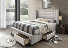 Thousand Oaks Savoy Upholstered Storage Panel Bed