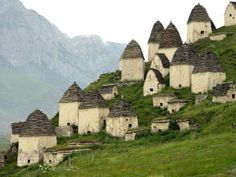 """City of the Dead (2) .. more history on Dargavs, Russia """"City of the Dead"""" here:  http://www.odditycentral.com/pics/dargavs-russias-city-of-the-dead.html"""