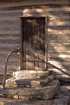 1860s log cabin back door - Linda Phelps photography