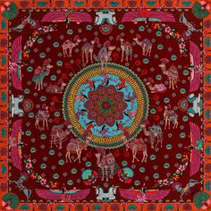 Color Theory Therapy| Serafini Amelia| Deep Reds- Antique Scarf