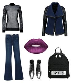 Silver Fever by manifika on Polyvore featuring polyvore, fashion, style, DKNY, Vince, Frame, Moschino and clothing
