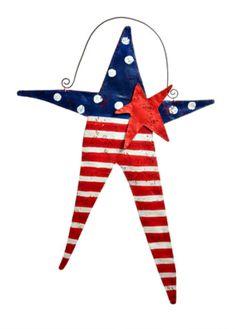 Fourth of July Star Door Hanger